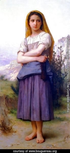 William-Adolphe Bouguereau - Knitting machine 2