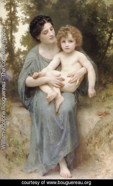 William-Adolphe Bouguereau - The younger brother 2