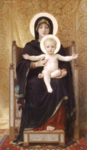 William-Adolphe Bouguereau - Madone Assise