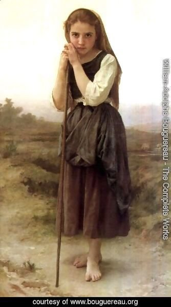 William-Adolphe Bouguereau - A Little Shepherdess 1891