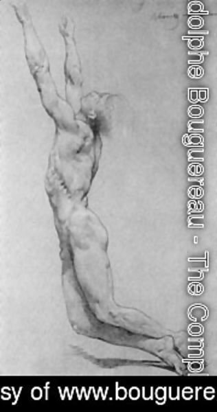 William-Adolphe Bouguereau - Flagellation Of Christ Study In Pencil