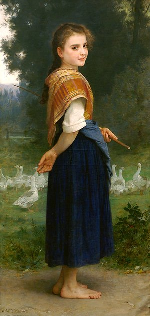 William-Adolphe Bouguereau - The Goose Girl 1891
