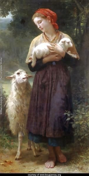 The Shepherdess 1873 165.1x87.6cm