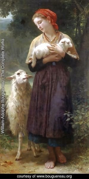 William-Adolphe Bouguereau - The Shepherdess 1873 165.1x87.6cm