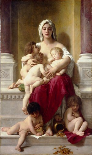 William-Adolphe Bouguereau - Charity 1878