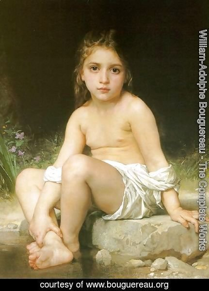 William-Adolphe Bouguereau - Child at Bath 1886