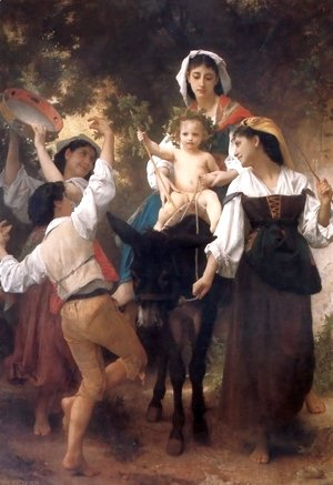 William-Adolphe Bouguereau - Return from the Harvest 1878