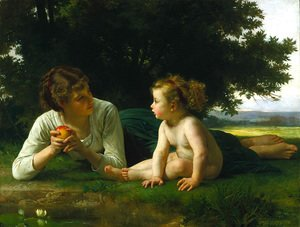 William-Adolphe Bouguereau - Temptation 1880