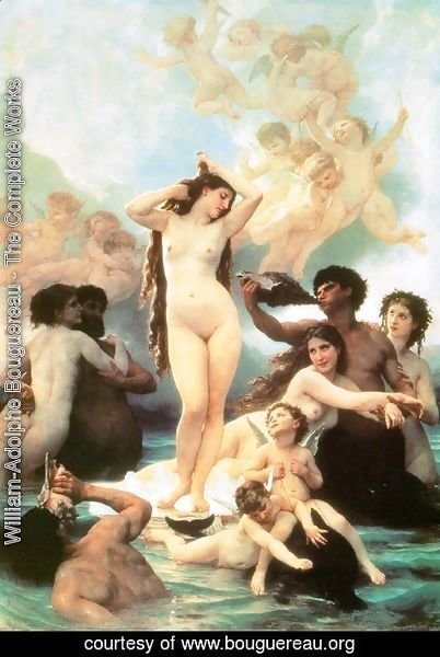 William-Adolphe Bouguereau - The Birth of Venus 1879