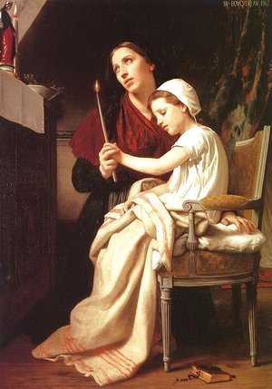 William-Adolphe Bouguereau - The Thanks Offering 1867