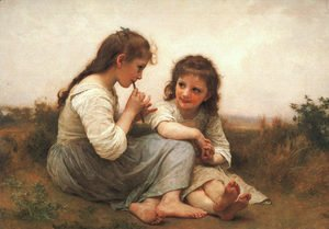 William-Adolphe Bouguereau - Two Girls (Childhood Idyll) 1900