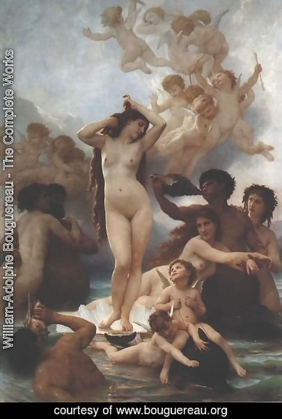 William-Adolphe Bouguereau - Birth of Venus